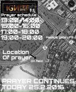 ufs prayer schedule