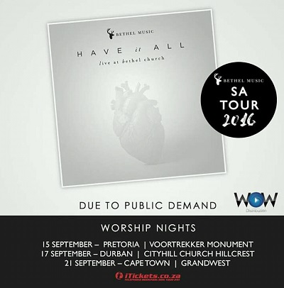 Bethel Music announces 2016 SA tour