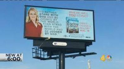 God's not dead — He's alive. Bid to block movie billboard backfires