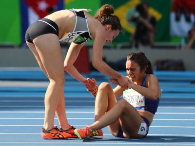 Christian athlete praised for showing true Olympic spirit after tumble
