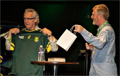 Bill Johnson leading conference in SA — and there's a rugby connection!