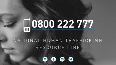 human trafficking resource line