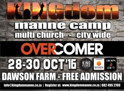 Third KINGdom Manne Camp in PE next weekend