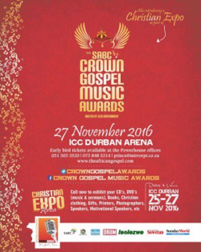 SABC Crown Gospel Music Awards nominees announced
