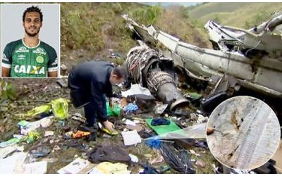 Colombian soccer player survives plane crash with bible in hand