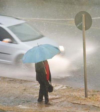 Rain pedestrian