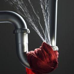 Leaking pipes towel