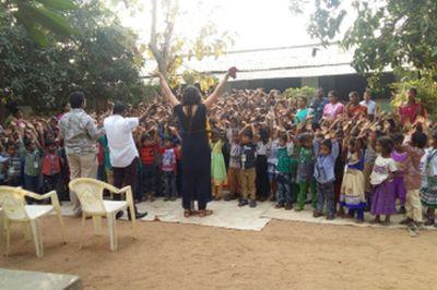 Lindy-Ann India Joy school kids