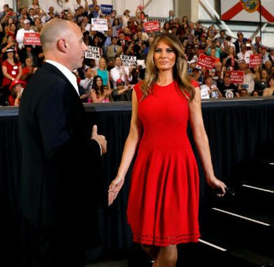 Melania Trump makes history with Lord's Prayer at rally[VIDEO CLIP]