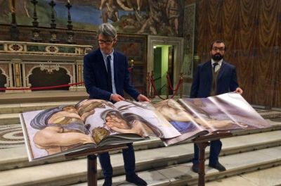 Sistine chapel Christian art by the masters is digitally photographed