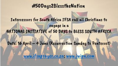 50 days to bless the nation through prayer: arts and culture (Week 6) — Alf James