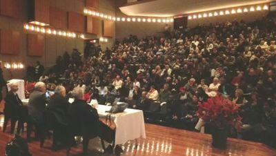 Deep spiritual hunger evident at packed PE campus debate