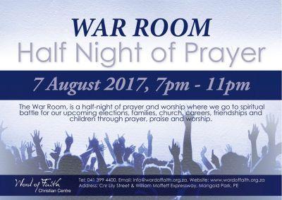 Half night of united prayer at PE church ahead of no-confidence debate