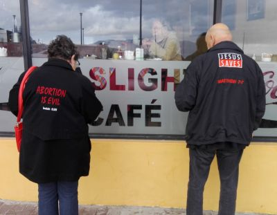 Christian couple evicted from Cape Town restaurant over anti-abortion message on jackets