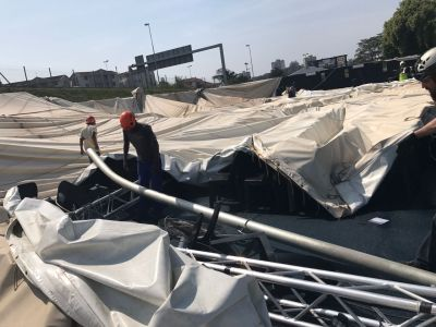 Durban Christian Centre tent flattened by gale