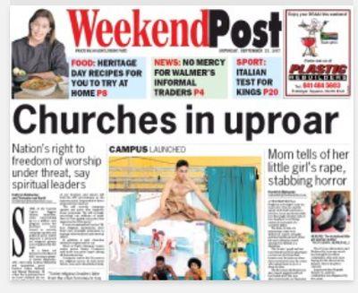East Cape churches outcry against religious regulation sheds new light — FOR SA
