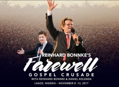 Reinhard Bonnke 'passing torch' at last mass crusade in Lagos