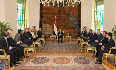 Egypt's President Sissi holds historic meeting with US Evangelical Christians