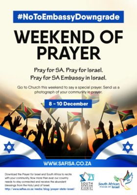 SA Christians asked to pray about ANC threat to downgrade embassy in Israel