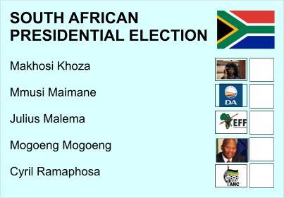 Who would you like to become president of SA?
