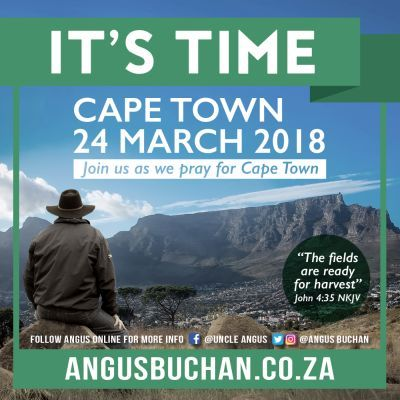 'I am more excited about It's Time Cape Town than I was about Bloemfontein,' says Angus Buchan