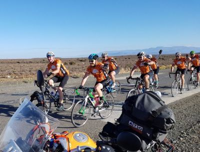 Cyclists and intercessors on prayer fire trail to It's Time Cape Town