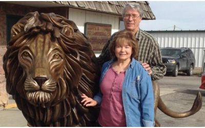 Giant lion of Judah on its way to Israel