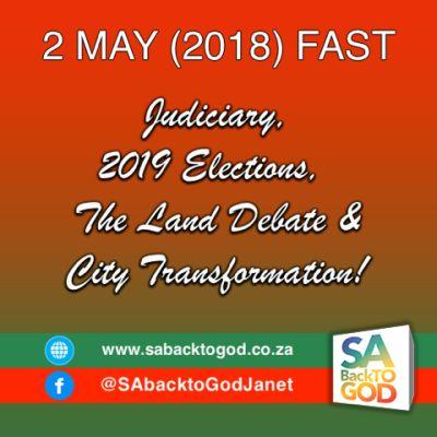 SA Back to God calls for fast for SA on May 2