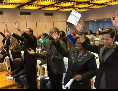 Prayer drought in Cape Town Civic Centre breaks on Ascension Day