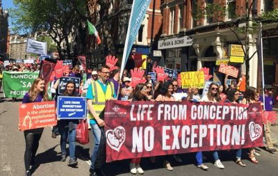Thousands march for life in London