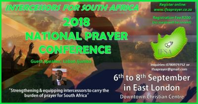 National prayer conference taking place in East London at critical time for SA