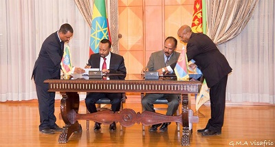 Ethiopia and Eritrea sign peace agreement