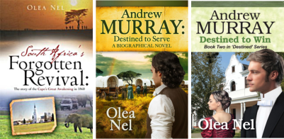 INTERVIEW with novelist Olea Nel who writes on life and works of Andrew Murray