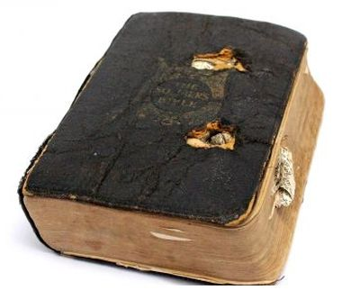 This bullet-scarred Bible 'saved the life' of a World War I soldier