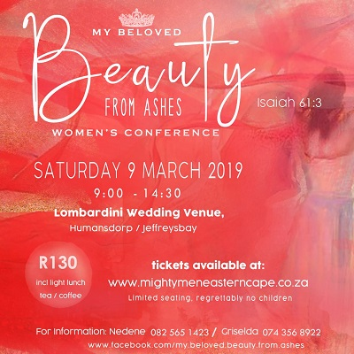 Women's conference at Jeffreys Bay over Mighty Men weekend