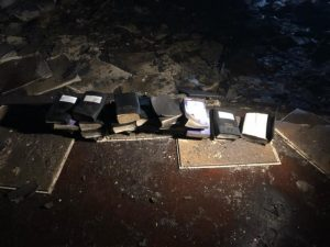 Firefighters praise God after Bibles unscathed in church inferno
