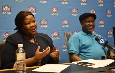 ACDP is now my spiritual home as well as my political home, says Vytjie Mentor