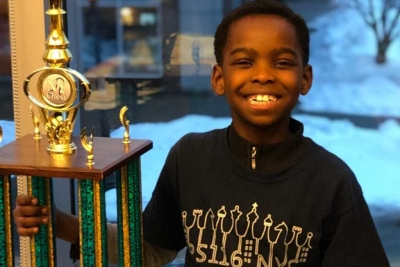 Homeless Christian refugee family's life changes when son, 8, wins chess competition