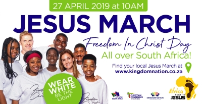 Cities, towns marching for Jesus, praying in unity, on Saturday