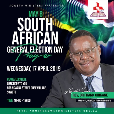 Election Day prayer event in Soweto on April 17