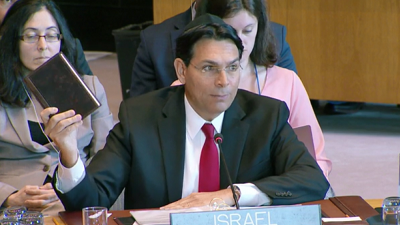 Bible is 'our deed to the land', says Israel's ambassador at UN