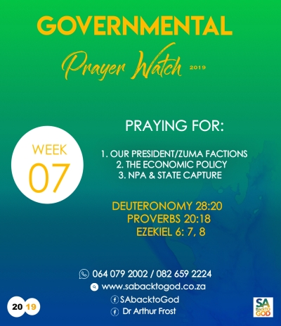 Governmental Prayer Watch campaign going strong