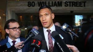Israel Folau sues Australian Rugby, claims contract unlawfully ended over Christian beliefs