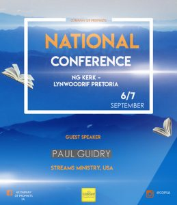 Company of Prophets holding 2019 national conference in Pretoria