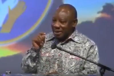 WATCH: Singing SA president echoes Africa group's Israel assignment