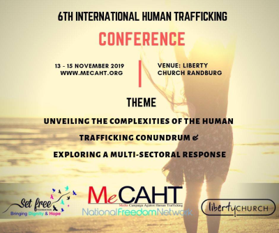 International human trafficking conference taking place in Gauteng in November
