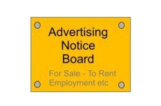 Advertising Notice Board