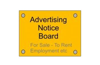 Advertising Notice Board