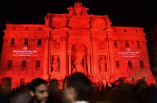 Buildings lit red for persecuted Christians on 'Red Wednesday'