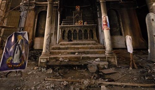 Iconic church desecrated by ISIS restored